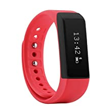 itness tracker, Antech Smart Bracelet Bluetooth 4.0 Pedometer Activity Tracker ,Tracking Calorie Health Wristband Sleep Monitor, Black