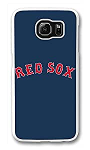 Galaxy S6 Case, S6 Cases, Custom Baseball Boston Red Sox Galaxy S6 Bumper Case [Scratch Resistant] [Shock-Absorbing] Hard Plastic White Protective Cover Cases for New Samsung Galaxy S6