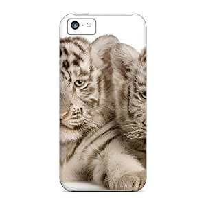 Series Skin Case Cover For Iphone 5c(precious Little White Tigers)