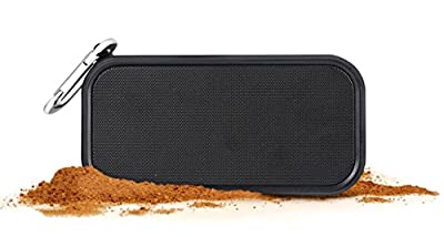 iCode Sports Portable Bluetooth Speaker with 360° Surrounding Sounds, 12 Hour Play Rechargeable Battery ,Water Resistant IPX5 Perfect for Outdoor, Beach, Shower & Home (Black) from iCode Sports