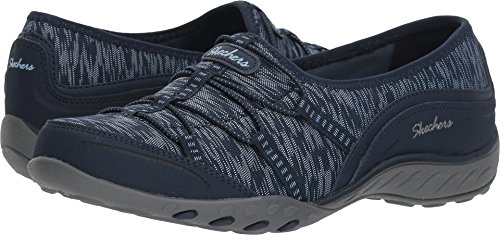 Skechers Womens Relaxed Fit: Breathe Easy Sneaker, Navy, Size 7.5 by Skechers