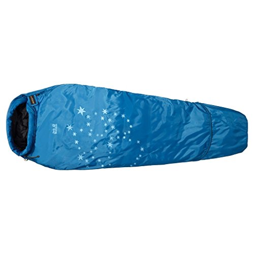 Jack Wolfskin Kinder Schlafsack Grow Up Star, Electric Blue, 150 x 70 x 70 cm, 3001872-1062012
