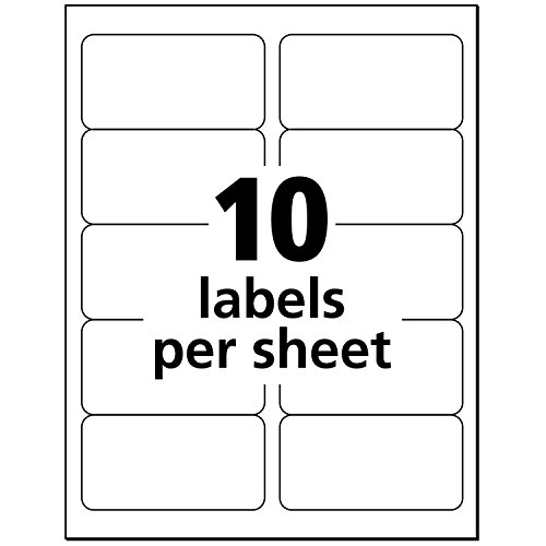 Avery Matte Frosted Clear Address Labels For Inkjet Printers 2 X 4