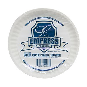 Plates Paper Uncoated (Empress Uncoated Paper Plate 6