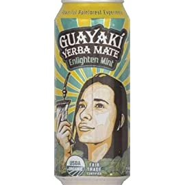 Guayaki - Yerba Mate Enlighten Mint - 16 oz. 4 Enlighten Mint has a minty flavor with a touch of honey flavor, and an earthy note from the yerba mate. It's easy drinking and clean tasting, and not too s