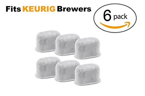 New Keurig Compatible Replacement Charcoal Water Filters for KUERIG Coffee Makers Universal - Easy to Replace and Remove - Purifying from Impurities and Improve Taste by ElloGreen (6 PACK)
