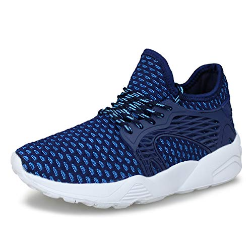 Hawkwell Kids Knit Running Shoes Boys Girls Breathable Lightweight Walking Sneakers(Toddler/Little Kid),Navy Knit,3 M US