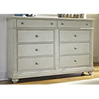 Liberty Furniture Harbor View III Bedroom 8-Drawer Bureau, Dove Gray Finish
