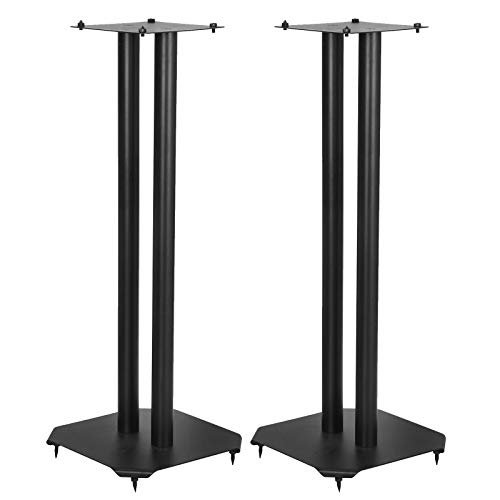 F2C Floor Speaker Stands Home Theater Surround Sound System Satellite &Bookshelf Speaker Stand Mount Holder Universal Steel Construction, 24 Inch High, 22 Lbs Capacity/Each