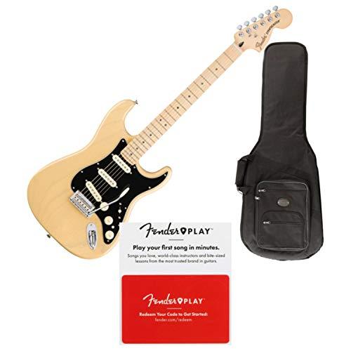 Fender Deluxe Strat Electric Guitar (Vintage Blonde, Maple Fingerboard) (Open Box) ()