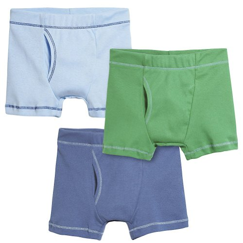 City Threads Boys' Boxer Briefs 100% Super Soft Cotton for Sensitive Skin Sensory Friendly SPD School Play Sports Active, 3-Packs, Fun Boy, 10