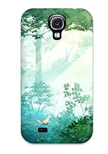 Durable Case For The Galaxy S4- Eco-friendly Retail Packaging(animal Forest Fox Grass Juuyonkou Original Scenic Tree)