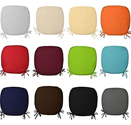 CHAIR SEAT CUSHIONS WITH TIES CHAIRS KITCHEN OFFICE HOME PACK OF 4// PACK OF 8