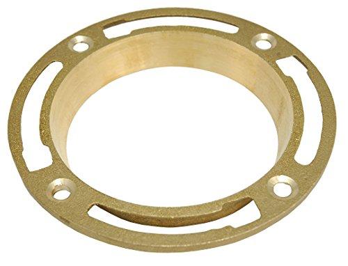 Brass Spigot Closet Flange, 4-Inch - By PlumbUSA 50702