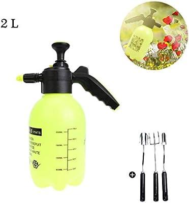 Lahshion Pulverizador a presión de una Mano, Botella de Spray para jardín, Planta de Caldera, Herramienta de riego para Flores, con Juego de Tres Piezas para jardín (2L): Amazon.es: Hogar