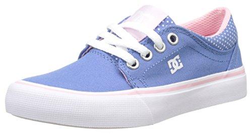 DC Shoes Trase TX Se - Botas Niñas Multicolore (Blue/White Print)