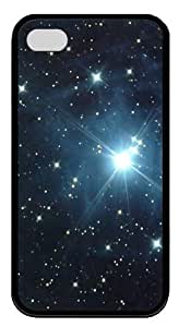 Galaxy Stars11 TPU Case Cover for iPhone 4 and iPhone 4S Black