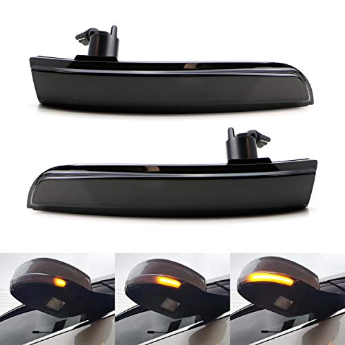 (iJDMTOY Smoked Lens Dynamic Sequential Blink LED Side Mirror Turn Signal Light Strip Assembly For Ford 2012-2018 Focus, 2013-2019 Escape, 2015-2018 C-Max)
