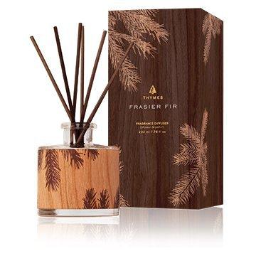 (Thymes Frasier Fir Petite Reed Diffuser Wood Design 3.4oz 100ml )