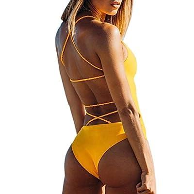 WensLTD Clearance! Sexy One Piece Women Bandage Thong Bikini Swimsuit Swimwear Bathing Beachwear