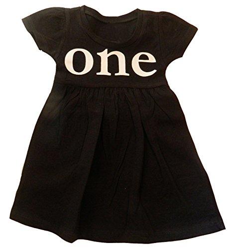 Custom Kingdom Baby Girls One One Year Old First Birthday Dress (6-12 Months, -