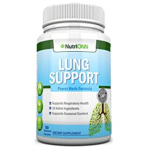 bottle containing best lung detox supplement lung support