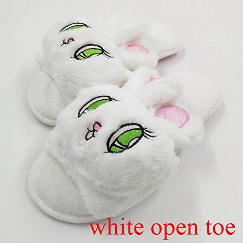Adulti Le Rosa Open Pantofole Pantofola Scarpe Invernali Animali Cartoon Ciabatte Autunno Per E White Toe Donne Viola Dongtx wBxYIqx