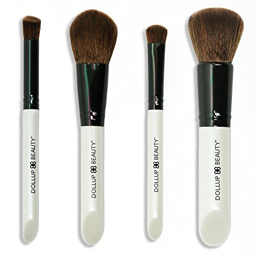 Dollup's Vegan Bunny-Soft Makeup Brushes. Guaranteed To Never Shed and To Be The Softest Brushes Ever.