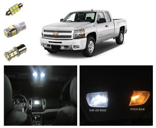 2011+ Chevy Silverado LED Package Kit - Interior + Tag + Reverse (14 pieces)