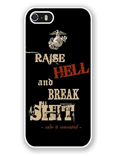 Price comparison product image iPhone 5S Phone Case, Usmc Popular Gifts Case Cover for iPhone 5, 5S and iPhone SE(White)