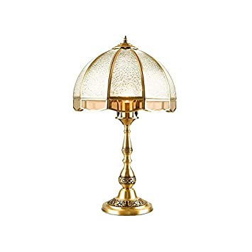Lampara de mesa Lámpara de mesa de cobre, lámpara de mesa ...