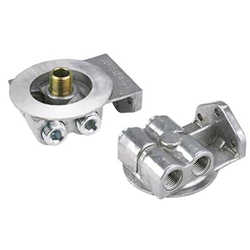 Single Remote Oil Filter Bracket, Fits Chevy Filter (Oil Filter Bracket)