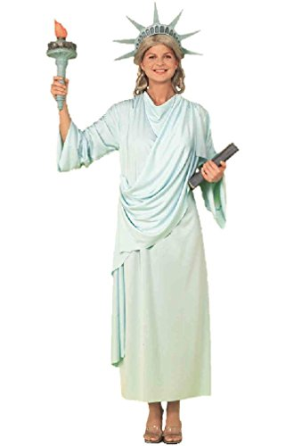 [8eighteen Classic Miss Statue of Liberty Adult Costume] (Adult Lady Liberty Plus Size Costumes)