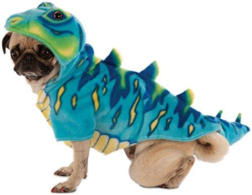 Blue Dino Hoodie for Pet, Medium