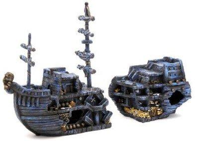 Amazon Com Medium Pirate Treasure Chest Ship Fish Tank Ornament