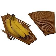 Chopstick Folding Basket - Great Kitchen Fruit & Vegetable Basket - Medium, Tea-Stained
