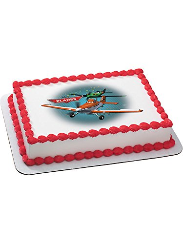 [Disney Planes Quarter Sheet Edible Cake Topper (Each) - Party Supplies] (Homemade Disney Halloween Costumes)