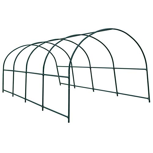 Strong Camel Multi-use Support Arch Frame for Climbing Plants/Flowers/Vegetables Size 20′ X 10′ X 7′ Greenhouse Frame