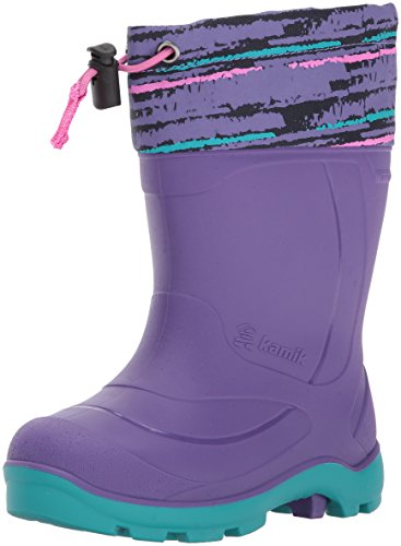 Kamik Girls' Snobuster2 Snow Boot, Purple/Teal, 13 Medium US Little Kid (Snow Purple Boots)