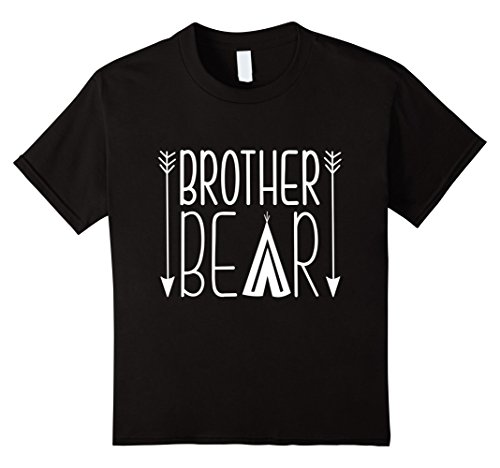 Kids Brother Bear Funny Gift For Brother T-Shirts 8 Black