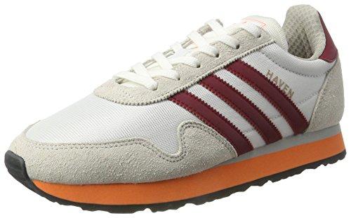 Adidas Originals Trainers - Adidas Originals Haven Shoes - White/Collegiate Burgundy/Easy Orange