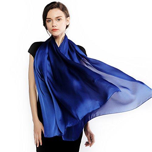(Silk Scarf for Women Feeling Silk Sunscreen Long Large Lightweight Satin Shawl Wrap Headscarf)