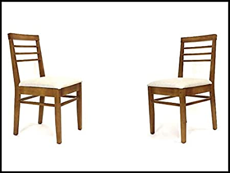 Langer Naturholzmobel 2x Stuhle Mit Polster Venneza Fsc N002524