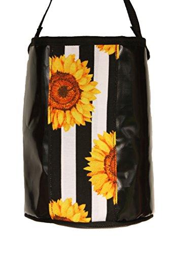 Kangaroo Reef Laundry - Clothespins Bag Black PVC Australian UV Rated Great laundry storage (Kangaroos Canvas)