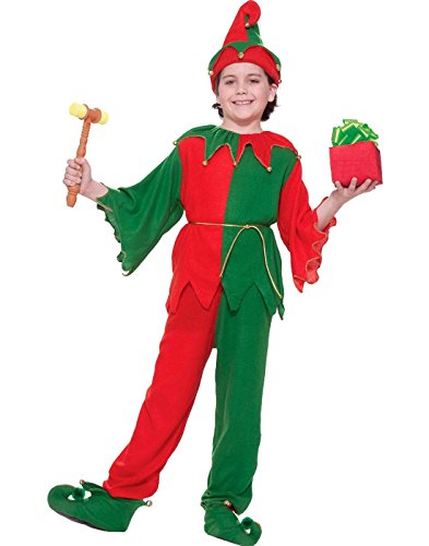 [Forum Santa's Elf Santa Claus Helper Childs Costume Large] (Childrens Santas Helper Costume)
