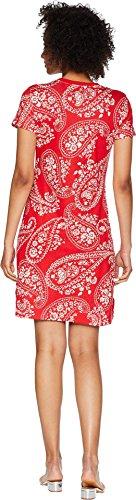 Red Lace Cotton Multi Tara Paisley Dress Chaps up Womens 5qOvxX