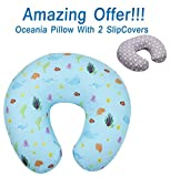 SALE - MyTickles Oceania Nursing Pillow and Positioner (With TWO Slipcovers), Positioning & Support For Breastfeeding Moms & Baby. A Perfect Present / Great Baby Shower Gift!: more info