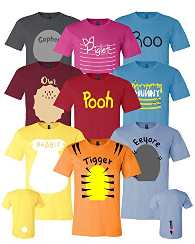 Pooh & Friends Inspired Shirt Adult Unisex Sizes