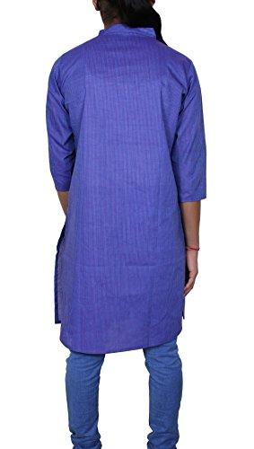 Manga corta de la vendimia blusa ocasional de la rodilla-longitud de la tapa del desgaste kurti
