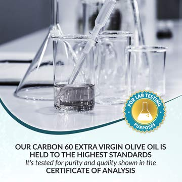 C60 in Olive Oil, Carbon 60 Supplement in Amber Glass Lab Bottles, C 60 Olive Oil, Organic 100ml 99.9% Ultra Pure FULLERENE C60 Supplement. Solvent Free BUCKMINSTERFULLERENE Carbon 60 Olive Oil by C60 Supply (Image #4)